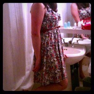 Express Brand, floral halter dress